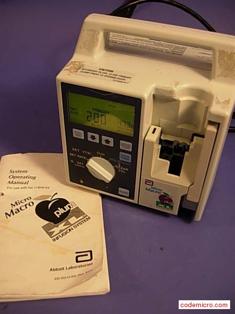 Infusion Pump: Date Of Mfr.:nalist # 11859-04-12includes Operating Manual